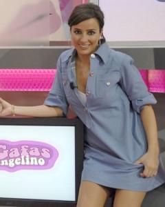 Carmen Alcayde en el plató de Angelino