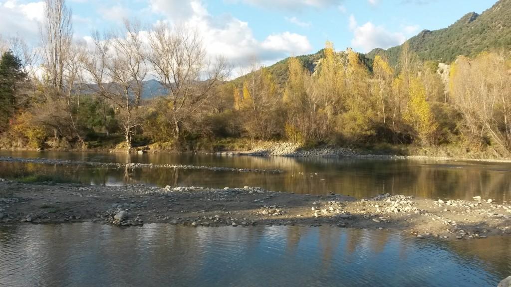 El río a su paso por Jánovas.