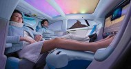 Imagen: ARUP/ Hanging out watching TV in the self-driving car